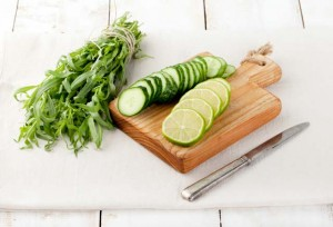 Cucumber lime and mint sambal